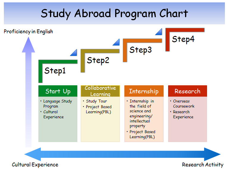 We organize the OIT Study Abroad Programs in steps